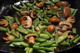 cuisiner des haricots plats boeuf sauté aux haricots plats chignons aux herbes l eau à la