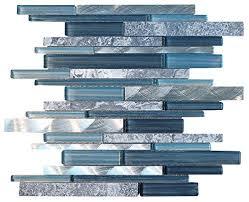 Blue Tile Backsplash Amazoncom - Blue backsplash tile