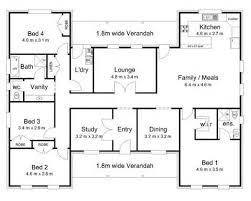 Impressive 4 Bedroom House Plans 4 Bedroom House Floor Plans Esprit Home Plan