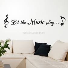 let the music notes quote play songs wall art sticker decal diy home decoration decor wall jpg