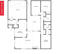 eichler floor plans before after a vintage eichler home opens up apartment therapy