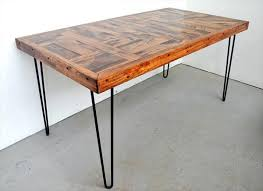 reclaimed wood table with metal legs dining tables with metal legs 4wfilm org