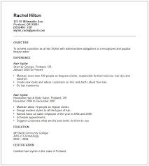Resume Category Examples by Hair Stylist Resume Ilivearticles Info