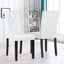 Leather Dining Room Chairs EBay - White leather dining room set