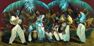 colorful tropical pieces are to be expected in cuban art and local artists don t disappoint la conga evelio garcia mata