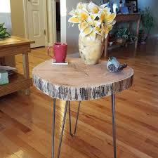 Wood Slab End Table by Best Hand Built Red Oak Tree Slab End Table Or Night Stand 22 5