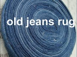 Denim Rag Rugs Use Old Denim Jeans To Maje This Rug Carpet Coaster Old Jeans