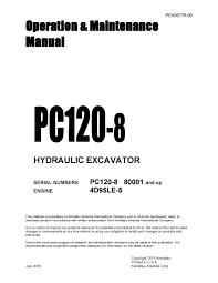 Komatsu Pc120 8 Operation U0026 Maintenance Manual Pdf Download