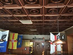 Faux Tin Ceiling Tiles Drop In by Faux Tin Ceiling Tile Easy Drop In Or Glue Up Install Colors