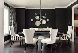 Dining Room Decoration Using Black Wooden White Leather Dining - Black living room chairs
