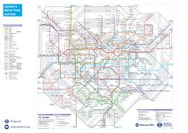 map underground and rail transport for new underground map