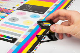 cmyk color check on printed paper stock photo picture and royalty
