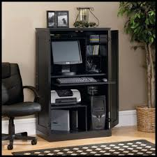 Mainstays L Shaped Desk With Hutch Multiple Finishes by Sauder Computer Armoire Ebony Ash Finish 169729 Walmart Canada