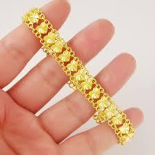 ladies bracelet gold jewelry images Romantic women ladies wedding anniversary jewelry accessories 24k jpg