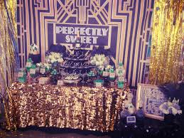 astounding table for great gatsby party decorations completed with