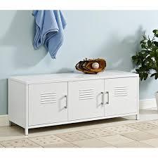 walker edison furniture company locker style 48 in white metal