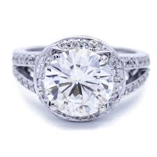 10mm diamond 10mm moissanite and diamond halo 18k white gold ring
