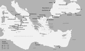 Sparta Greece Map by Greek Colonisation Museum Of Cycladic Art