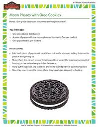 moon phases with oreo cookies u2013 6th grade astronomy activity