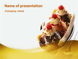 banana split presentation template for powerpoint and keynote