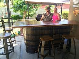 Whiskey Barrel Kitchen Table Wyld At Heart Customs Home