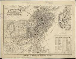 Map Of Boston by Map Of Boston 1865 Digital Commonwealth