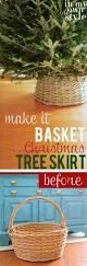 Black Tree Skirts Diy Basket Christmas Tree Skirt In My Own Style