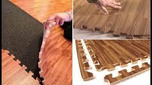 Interlocking Laminate Floor Tiles Soft Floor Tiles Laminate Wood Flooring Youtube