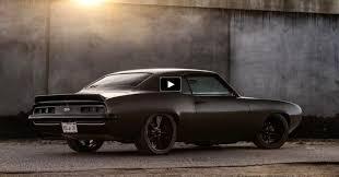 69 camaro flat black big block 1969 camaro murdering the tires cars