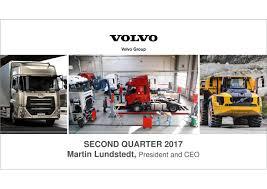volvo group volvo ab adr b 2017 q2 results earnings call slides volvo ab