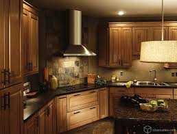 country kitchen backsplash ideas with walnut cabinets pictures
