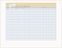 Wedding Invitation Excel Template Wedding Guest List Template Awesome 4 Printable Wedding Guest List