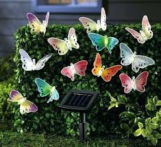 Solar Powered Patio Lights String Butterfly Lights String Solar Garden Fiber Optic Products