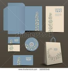 stationery corporate image design organic ornament stock vector