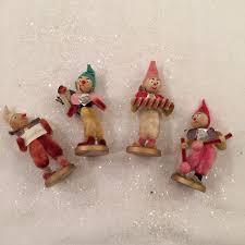 vintage 4 chenille pipe cleaner foil musical elves christmas