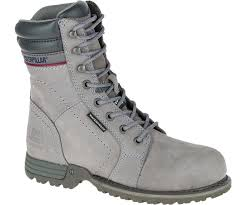 womens steel toe boots nz echo waterproof steel toe work boot grey cat
