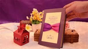 Invitation Cards Design With Ribbons Romantic Folding Design Purple Wedding Invitation Card With Ribbon