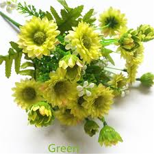 Artificial Flower Bouquets Aliexpress Com Buy Silk Artificial Chrysanthemum Flower Bouquet