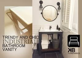 industrial modern steel vanity kb furnishings modern furniture