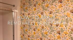 How to Apply Removable Wall Paper Tutorial selfadhesive wallpaper