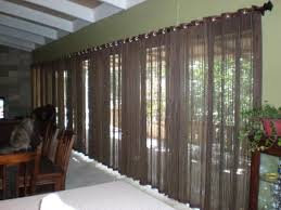 curtains riveting side door panel window treatments illustrious