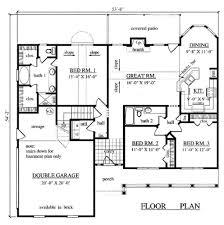 1500 sq ft house plan 3 bedroom 2 bath plans without g luxihome