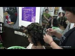 crossdresser forced to get a bob hairstyle long hair cute model in salon gets a 1980s hair perm style youtube