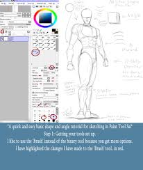 mister simple paint tool sai sketching tutorial by destinyfall on