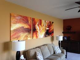 panel large abstract painting art canvas print triptych living room