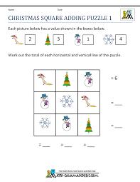 Pre Algebra Worksheets Christmas Maths Worksheets