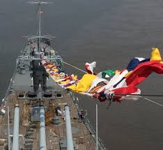 New Jersy Flag Own A Battleship Signal Flag With A Donation To The Big J