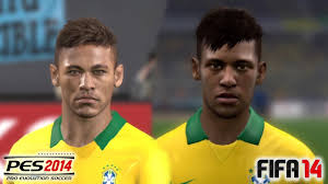 fifa 14 all hairstyles pes 2014 vs fifa 14 face comparison brasil national team youtube