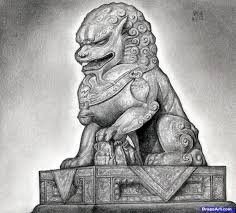 foo dog statues how to draw a foo dog foo dog statue step by step pop