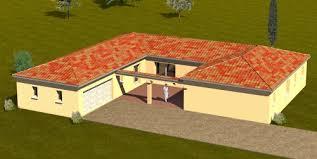 plan maison plain pied en l 4 chambres construction 86 fr plan maison plain pied de type 6